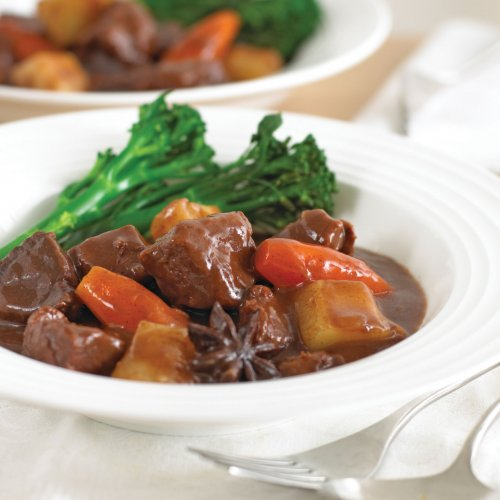 Beef Stew in Hoisin and Red Wine Sauce