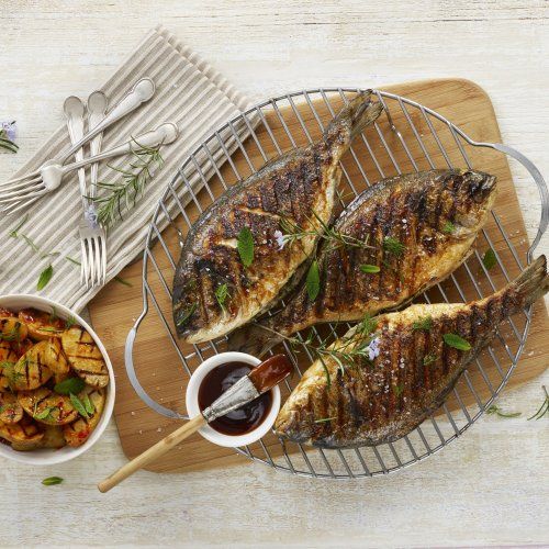 BBQ Herb Stuffed Sea Bream