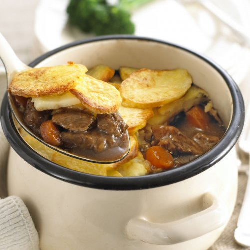 Hunters Beef Stew with Layered Potatoes